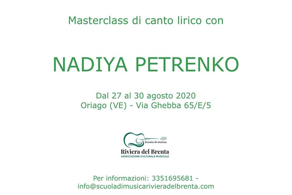 Masterclass di Canto Lirico Nadiya Petrenko